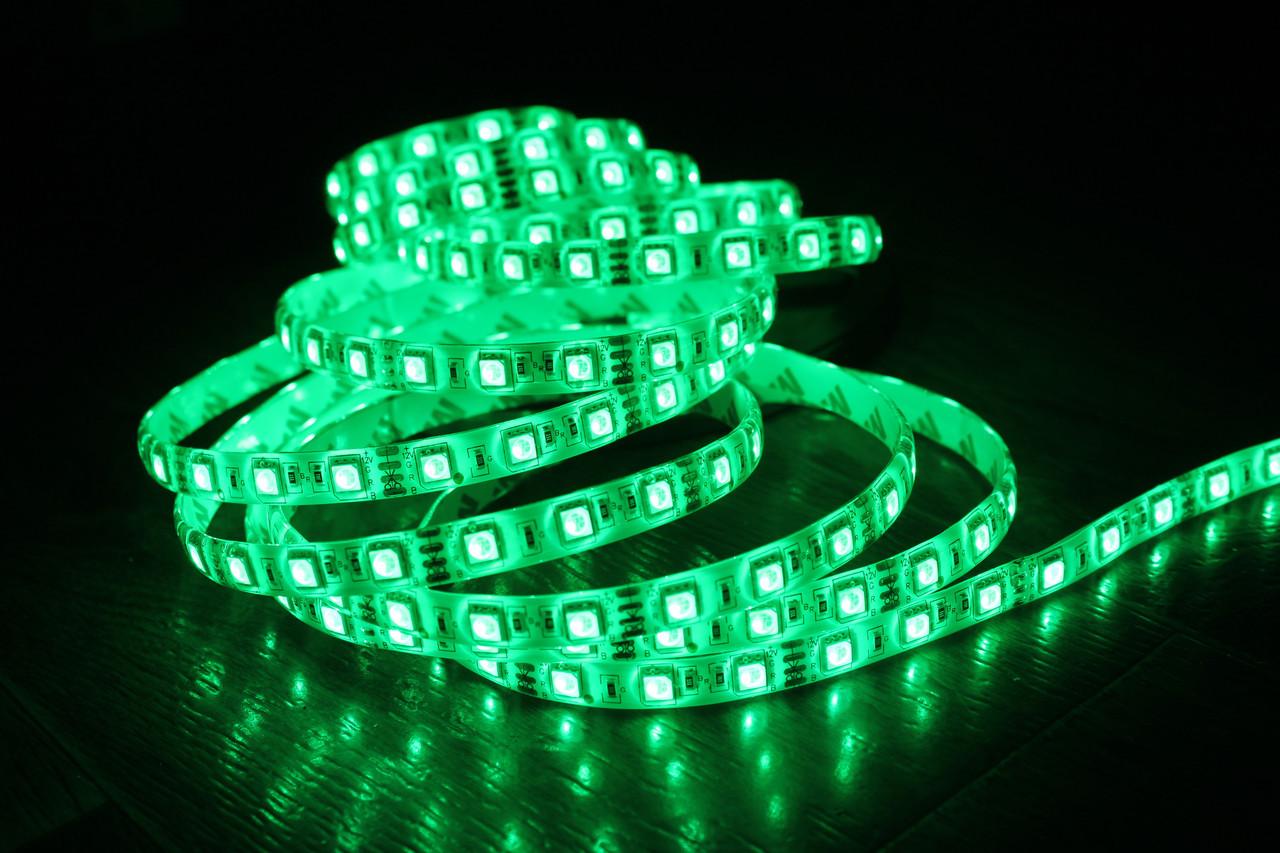 Светодиодная лента 5050-60 IP65 зеленый