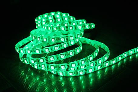 Светодиодная лента 5050-60 IP65 зеленый, фото 2