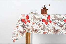 """Скатерть """"Бабочка красная"""" 140х170, с водоотталкивающей пропиткой"""