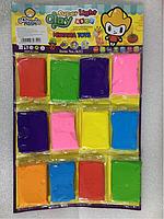 Пластилин детский мягкий , набор 12 шт.