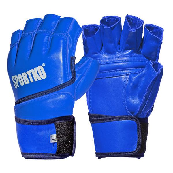 Перчатки кожаные с открытыми пальцами Sportko арт. ПК-4 (размер L)