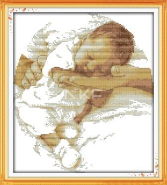Сон младенца R361 Набор для вышивки крестом с печатью на ткани 14ст
