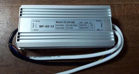 Источник питания герметичный 12V 5A MF-60-12, фото 2