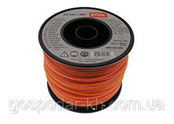 Косильная струна Ø2,4 мм х 43 м круглая оранжевая Stihl
