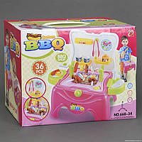 """Игровой набор 668-34 """"Барбекю"""" (18) 36 деталей, свет, звук, на батарейке, в коробке"""