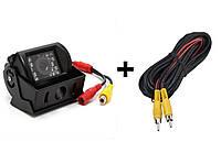 Камера заднего вида с ИК подсветкой для сельхозтехники + 6 метровый RCA AV кабель