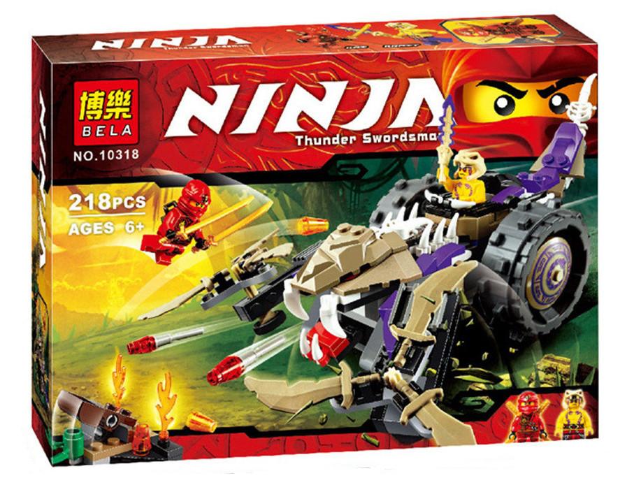"""Конструктор Bela Ninja (аналог Lego Ninjago) 10318 """"Разрушитель клана Анакондрай"""", 218 дет"""
