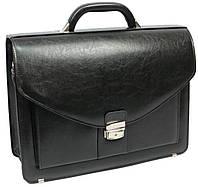 Портфель деловой из искусственной кожи 4 отдела, Jurom Польша 0-37-111 чёрный