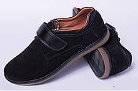 Подростковые туфли на липучке, кожаная детская обувь от производителя модель ДЖ3603