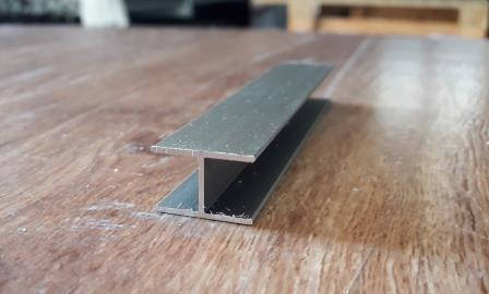 Двутавр алюминиевый 18х12х1 / анод светлая бронза (шампань), фото 2