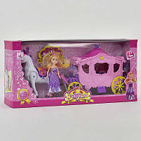 Карета с куклой, в коробке. Детский игровой набор
