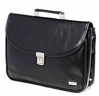 Элегантный деловой портфель из искусственной кожи VERSO B064 черный