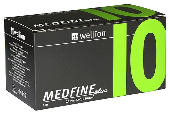 Иглы для инсулиновых шприц-ручек Wellion Medfine plus 0,25 мм (31G) х 10 мм, 100 шт