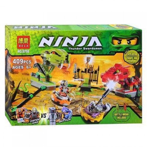 Конструктор Ninja (аналог Lego Ninjago) 9758 «Змеиная арена»