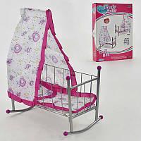 Кроватка для кукол с балдахином, в кор-ке. Кукольная игрушечная кровать