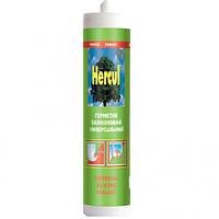 Универсальный силиконовый герметик Hercul белы, прозрачный
