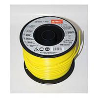 Косильная струна Ø3,0 мм х 168 м круглая жёлтая Stihl