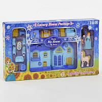 Двухэтажный домик книжка для куклы, музыкальный, со светом. Кукольный дом