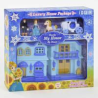 Двухэтажный домик книжка для куклы музыкальный, со светом. Кукольный дом