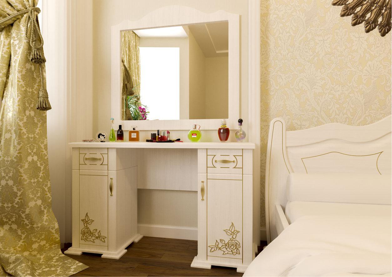Туалетний будуарний столик з дерева в спальню Мальва ДОК