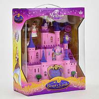 Замок для куклы музыкальный, свет, на бат-ке. Кукольный игрушечный замок
