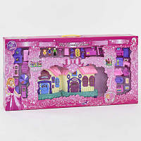 Двухэтажный Домик для куклы музыкальный, со светом. Кукольный дом игрушка для девочки
