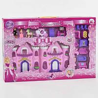 Замок для куклы музыкальный, со светом. Кукольный замок, домик подарок девочке