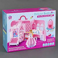 Игровой набор Комната Принцессы в коробке. Комната для куклы, кукольная комната, мебель