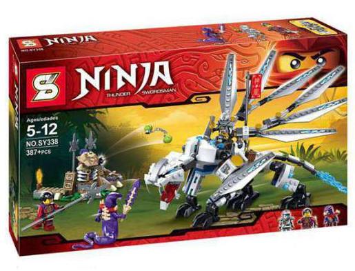 "Конструктор Ninja (аналог Lego Ninjago) SY338 ""Битва с Драконом"", 387 дет"