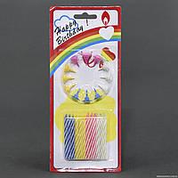 Свечи для торта праздничные С 23465 (288) 24шт в упаковке, 5,5см