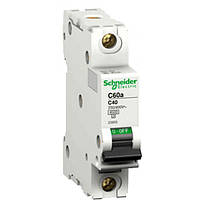 Автоматический выключатель iC60N 1P 2A D Schneider Electric (A9F75102), фото 1
