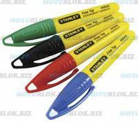 Маркеры перманентные STANLEY цветные заостренный наконечник 4 шт.