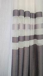 Гардинная ткань батист (горизонтальная полоса низ)