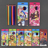 Карандаши цветные 555-651 (240) 8 видов, 12шт в упаковке