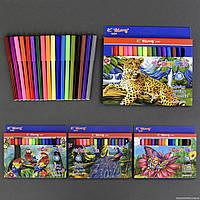 Фломастеры 555-663 (144) 4 вида, 18шт в упаковке, 18 цветов