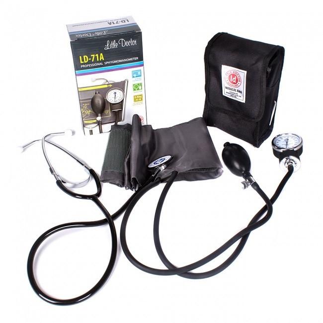 Тонометр механический LD 71А тискомір с встроенным стетоскопом Little Doctor