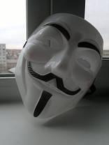 Маска Вендетта гай фокс V Vendetta Белая, фото 3
