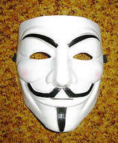 Маска Вендетта гай фокс V Vendetta Белая, фото 2