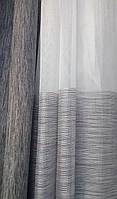 Гардинная ткань батист (серая горизонтальная полоса низ)