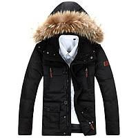 Зимняя мужская куртка с капюшоном. Модель 6106, фото 1