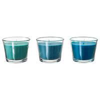 БРЭККА Ароматическая свеча в стакане, бирюзовый кокос, бирюзовый, 50277656, IKEA, ИКЕА, BRACKA