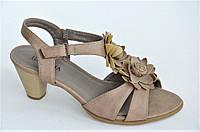 Женские босоножки на каблуке сандали капучино удобные практичные. Только 36р!