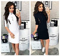 2f743503b0b Стильное белое платье. платье рубашка. Черное спортивное платье. Женское  платье от производителя.