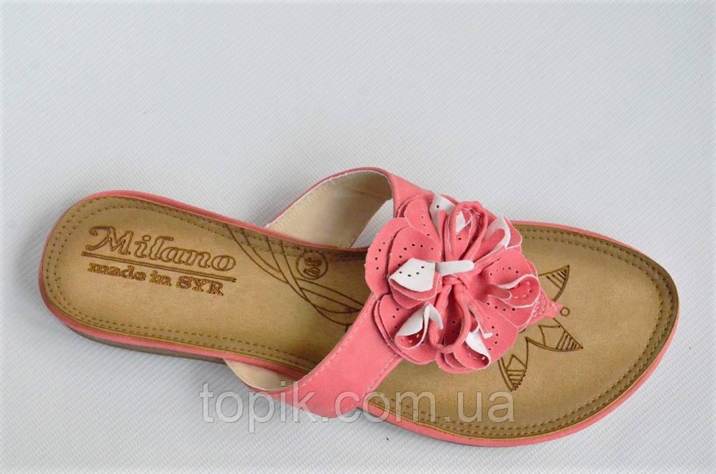 Шлепанцы вьетнамки босоножки удобные женские легкие стильные розовые