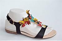 Женские босоножки шлепанцы вьетнамки черные бабочки. Только 38р!