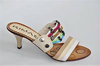 Шлепанци босоножки на каблуке легкие удобные женские. Только 38р!