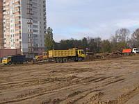 Земляные работы, рытье котлованов, рытье траншей,вертикальная планировка территории.