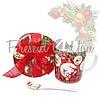 Кружка фарфоровая с ложкой в подарочной коробке с новогодним рисунком «Christmas Time», 350 мл , фото 2