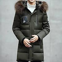 Мужской зимний пуховик. Полупольто мужское с капюшоном. Модель 6226., фото 1