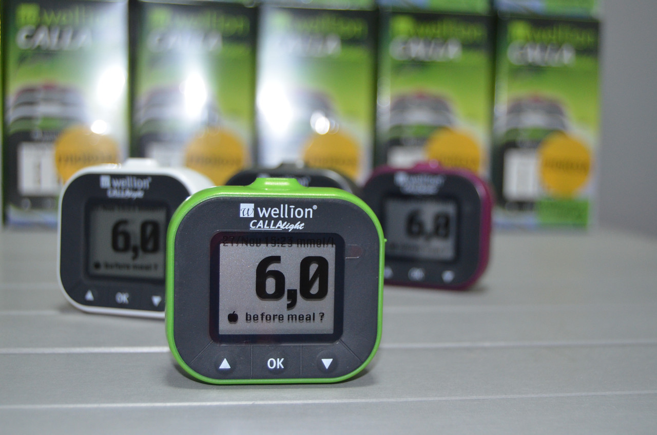 Глюкометр Wellion CALLA Light без кодировки Австрия. зеленый